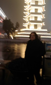 me and pagoda- Zhengzhou