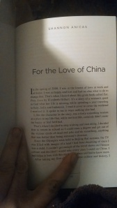 My story: For the Love of China, 2014