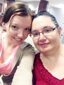 Me and Kristin at my pre-op in late July
